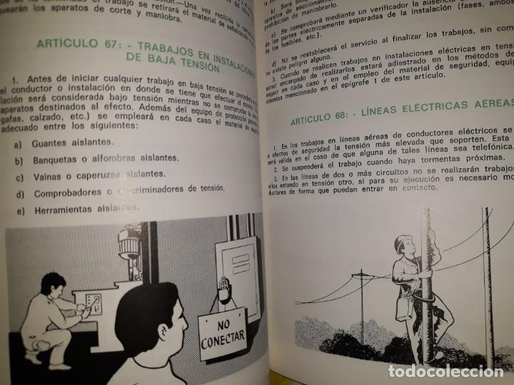 Libros de segunda mano: ORDENANZA GENERAL SEGURIDAD HIGIENE TRABAJO INDUSTRIAL ILUSTRADO MOTOR ELÉCTRICO TRANSMISIÓN MÁQUINA - Foto 5 - 158820518