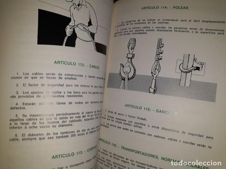 Libros de segunda mano: ORDENANZA GENERAL SEGURIDAD HIGIENE TRABAJO INDUSTRIAL ILUSTRADO MOTOR ELÉCTRICO TRANSMISIÓN MÁQUINA - Foto 2 - 158820518
