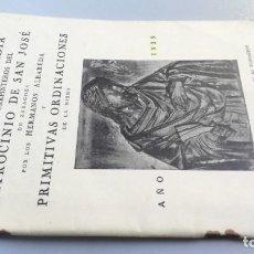 Libros de segunda mano: ANTIGUA COFRADÍA MANCEBOS CARPINTEROS PATROCINIO SAN JOSÉ .ALBAREDA ZARAGOZA ARAGÓN 1936. Lote 158900262