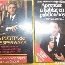 Libros de segunda mano: LOTE 2 LIBROS DE J.A. VALLEJO-NAGERA. PLANETA. 1990. . Lote 159151790