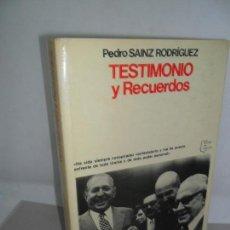Gebrauchte Bücher - Testimonio y Recuerdos, Pedro Sáinz Rodríguez, ed. Planeta - 159231398