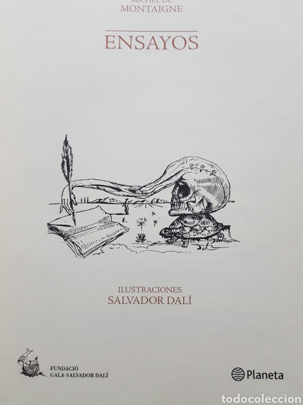 Libros de segunda mano: LOS ENSAYOS DE MONTAIGNE ILUSTRACIONES DE SALVADOR DALI. Edición única, limitada y numerada. 2005. - Foto 3 - 159250322