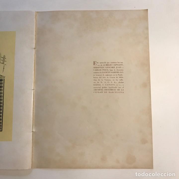 Libros de segunda mano: 1939 Barcelona sentimental Opúsculo Número 1,. Ejemplar numerado - Foto 11 - 159448002