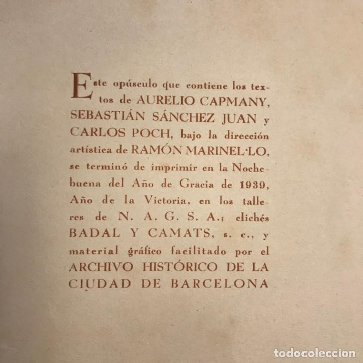 Libros de segunda mano: 1939 Barcelona sentimental Opúsculo Número 1,. Ejemplar numerado - Foto 12 - 159448002