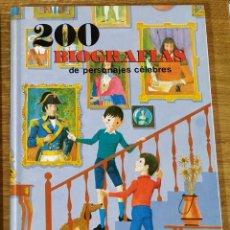 Libros de segunda mano: 200 BIOGRAFÍAS DE PERSONAJES CÉLEBRES - LUIS JUNCEDA (1979) EDICIONES SUSAETA. Lote 159513750
