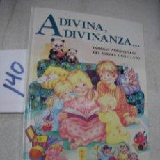 Libros de segunda mano: ADIVINA, ADIVINANZA...... Lote 159636670