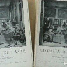 Libros de segunda mano: HISTORIA DEL ARTE - 2 TOMOS - DIEGO ANGULO IÑIGUEZ - 4ª EDICIÓN - AÑO 1969. Lote 159682606
