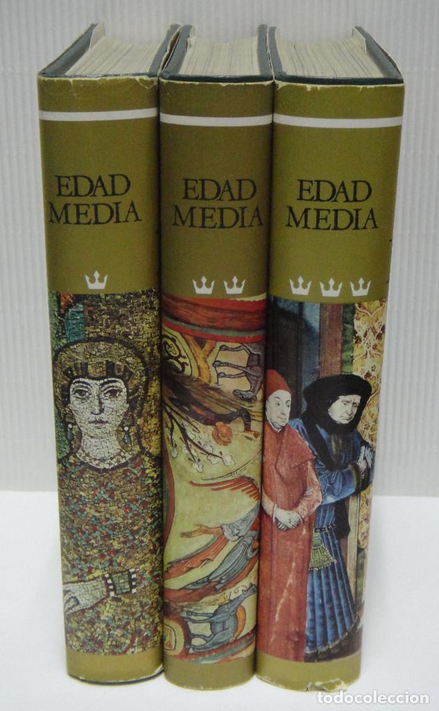 HISTORIA DEL MUNDO EN LA EDAD MEDIA. OBRA COMPLETA EN 3 TOMOS. (Libros de Segunda Mano - Historia - Otros)
