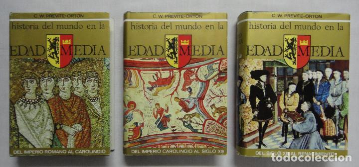 Libros de segunda mano: HISTORIA DEL MUNDO EN LA EDAD MEDIA. OBRA COMPLETA EN 3 TOMOS. - Foto 2 - 159972594