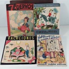 Libros de segunda mano: LOTE DE 4 LIBROS PARA COLOREAR. VV. AA. VARIAS EDITORIALES. 1945/47.. Lote 160070478