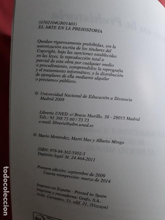 Libros de segunda mano: El arte en la Prehistoria. UNED, 2014. Con cd. Excelente estado. Mario Menéndez, Marti Más, Alberto - Foto 2 - 160189770
