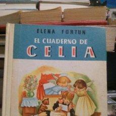 Libros de segunda mano: EL CUADERNO DE CELIA, ELENA FORTUN, ED. AGUILAR,1955. Lote 160285178