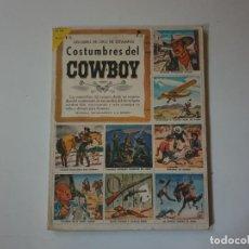 Libros de segunda mano: LIBRO DE ORO DE ESTAMPAS N.14 COSTUMBRES DEL COWBOY . 1º EDICION. Lote 160291926