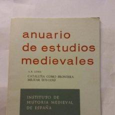Libros de segunda mano: STQ.ANUARIO DE ESTUDIOS MEDIEVALES.BARCELONA 1968.BRUMART TU LIBRERIA.. Lote 160361934