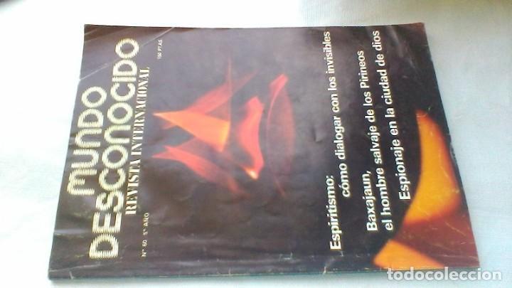 MUNDO DESCONOCIDO/ 60/ EXPIRITISMO - BASAJUM - ESPIONAJE CIUDAD DIOS/ / E205 (Libros de Segunda Mano - Parapsicología y Esoterismo - Otros)