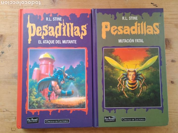 R. L. STINE / PESADILLAS (LOTE DE 2 LIBROS - 4 HISTORIAS). (Libros de Segunda Mano - Literatura Infantil y Juvenil - Otros)