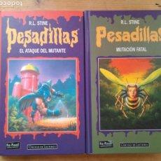 Livros em segunda mão: R. L. STINE / PESADILLAS (LOTE DE 2 LIBROS - 4 HISTORIAS).. Lote 160453005