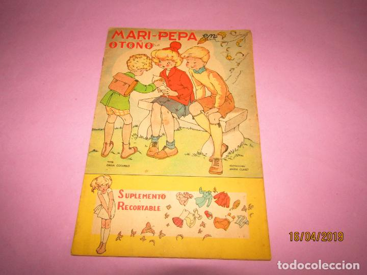 Libros de segunda mano: Antiguo Cuento MARI-PEPA en OTOÑO de Emilia Cotarelo con Ilustraciones de Maria Claret - Foto 2 - 160484338