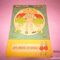 Libros de segunda mano: ANTIGUO CUENTO CON MARI-PEPA Y LAS GEMELAS DE EMILIA COTARELO CON ILUSTRACIONES DE MARIA CLARET. Lote 160484902
