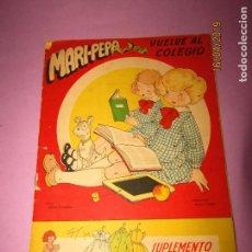 Libros de segunda mano: ANTIGUO CUENTO CON MARI-PEPA VUELVE AL COLEGIO DE EMILIA COTARELO CON ILUSTRACIONES DE MARIA CLARET. Lote 160485338