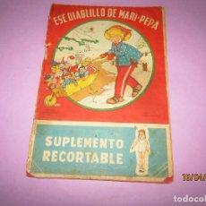 Libros de segunda mano: ANTIGUO CUENTO CON ESE DIABLILLO DE MARI-PEPA DE EMILIA COTARELO CON ILUSTRACIONES DE MARIA CLARET. Lote 160486046