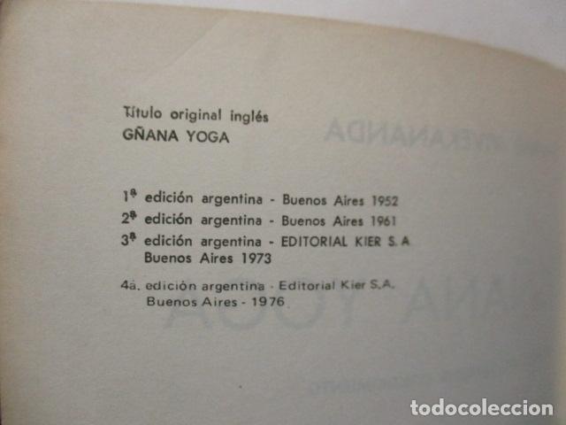 Libros de segunda mano: GÑANA YOGA. SENDERO DEL SUPREMO CONCIMIENTO. Swami Vivekananda - Foto 9 - 160486858