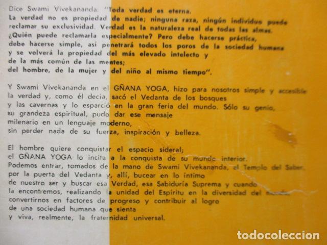 Libros de segunda mano: GÑANA YOGA. SENDERO DEL SUPREMO CONCIMIENTO. Swami Vivekananda - Foto 16 - 160486858