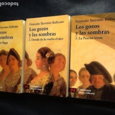 Libros de segunda mano: LOS GOZOS Y LAS SOMBRAS. OBRA COMPLETA EN TRES VOLUMENES. GONZALO TORRENTE BALLESTER. Lote 160489774