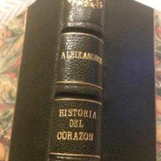 Libros de segunda mano: 1954 VICENTE ALEXANDER HISTORIAS DEL CORAZON. Lote 160523326