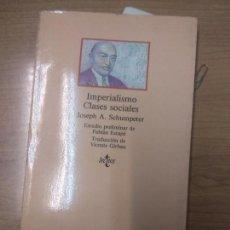 Livros em segunda mão: IMPERIALISMO CLASES SOCIALES - JOSEPH A. SCHUMPETER. Lote 160542146