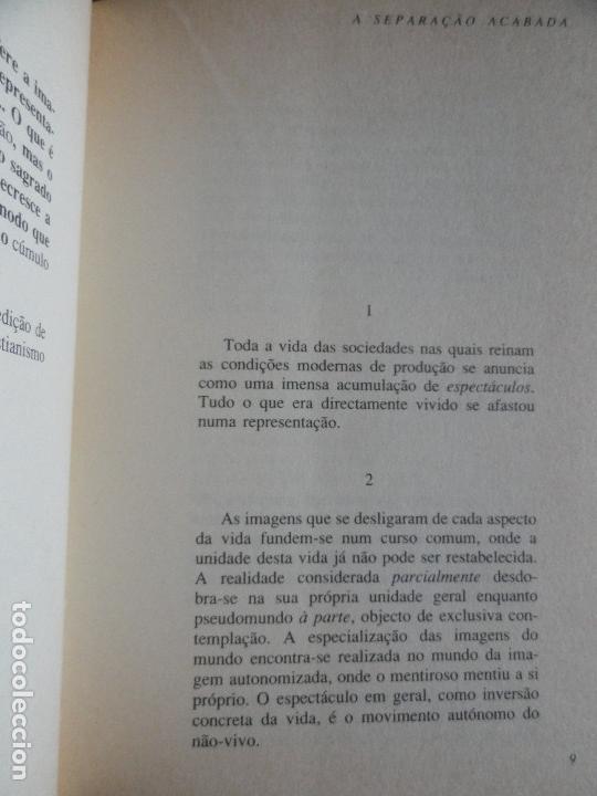 Libros de segunda mano: A SOCIEDADE DO ESPECTÁCULO, por GUY DEBORD. 2ª edição en português - Foto 9 - 10186094