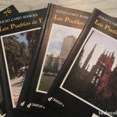 Libros de segunda mano: LOS PUEBLOS DE ESPAÑA - COMPLETO, CON SUS 76 FASCÍCULOS - JULIO CARO BAROJA. Lote 160774422