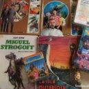 Libros de segunda mano: LOTE LIBRO INFANTIL JULIO VERNE - STROGOFF ISLA MISTERIOSA 20000 LEGUAS CAPITAN 15 AÑOS. Lote 160806186
