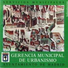 Libros de segunda mano: LIBRO - SERVICIOS MUNICIPALES - GERENCIA MUNICIPAL DE URBANISMO . AYUNTAMIENTO DE MADRID - 1977. Lote 161082498