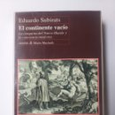 Libros de segunda mano: HISTORIA ARTE SIGLO XVI . EL CONTINENTE VACÍO LA CONQUISTA DEL NUEVO MUNDO Y LA CONCIENCIA MODERNA E. Lote 161259646