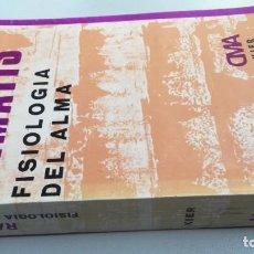 Libros de segunda mano: FILOSOFÍA DEL ALMA -RAMATIS - OBRA MEDIANIMICA DICTADA ESPÍRITU RAMATIS A MEDIUM HERCILIO MAES. Lote 161275994