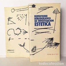 Libros de segunda mano: ROMÁN DE LA CALLE : REPERTORIO BIBLIOGRÁFICO DE INVESTIGACIÓN ESTÉTICA. (BIBLIOGRAFÍA. ARTE. CRÍTICA. Lote 210733590