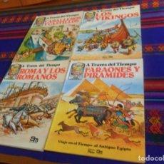 Libros de segunda mano: PLESA CABALLEROS Y CASTILLOS, FARAONES PIRÁMIDES, ROMA LOS ROMANOS Y VIKINGOS. A TRAVÉS DEL TIEMPO.. Lote 161679574
