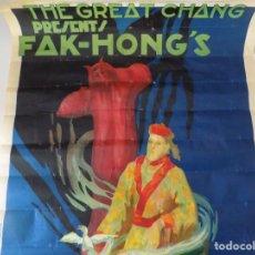Libros de segunda mano: LIBRERIA GHOTICA. GRAN CARTEL DE MAGIA: THE GREAT CHANG.FAK-HONG ´S. 1920. 80 X 50 CM.. Lote 161721518