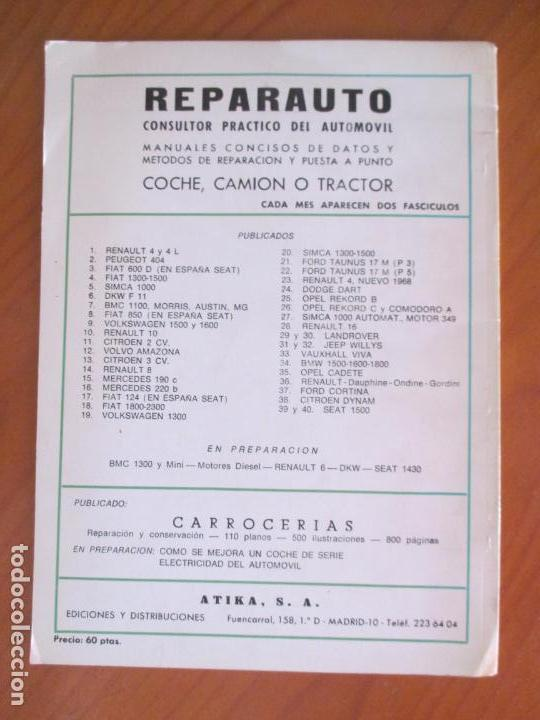 Libros de segunda mano: REPARAUTO BREVE MANUAL DE REPARACIÓN DEL FIAT 850 SEDAN. TRUELSEN. MANUAL 8. MADRID 1967 - Foto 4 - 161930370