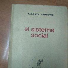Libros de segunda mano: EL SISTEMA SOCIAL - TALCOTT PARSONS. Lote 161960082