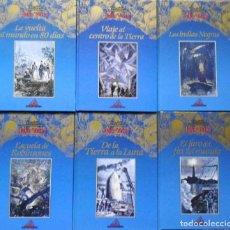Libros de segunda mano: 6 LIBROS CON HISTORIAS DE JULIO VERNE LOTE Nº 32. Lote 161960234
