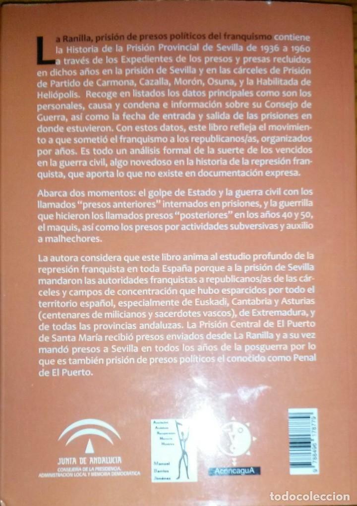 Libros de segunda mano: LA RANILLA. PRISIÓN DE PRESOS POLÍTICOS DEL FRANQUISMO - Mª Victoria Fernández Luceño - Foto 2 - 162109226