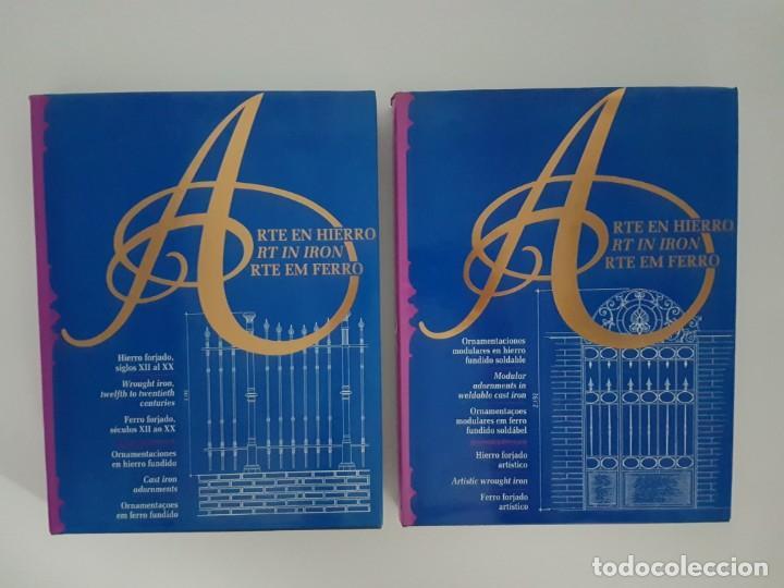 LOTE DE 2 TOMOS ARTE EN HIERRO ( EN 3 IDIOMAS ) (Libros de Segunda Mano - Ciencias, Manuales y Oficios - Otros)