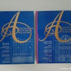 Libros de segunda mano: LOTE DE 2 TOMOS ARTE EN HIERRO ( EN 3 IDIOMAS ). Lote 162208174