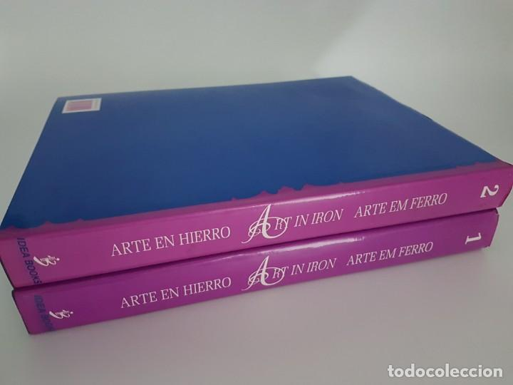 Libros de segunda mano: LOTE DE 2 TOMOS ARTE EN HIERRO ( EN 3 IDIOMAS ) - Foto 2 - 162208174