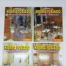 Libros de segunda mano: LOTE DE 4 TOMOS MOBILIÁRIO EN HIERRO FORJADO ( HERRERIA ARTESANAL ) EN 3 IDIOMAS. Lote 162208810