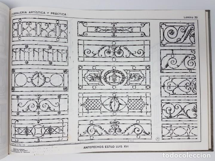 Libros de segunda mano: CERRAJERIA ARTÍSTICA Y PRÁCTICA 80 LÁMINAS ( J. ARTIGAS ) - Foto 6 - 162209350