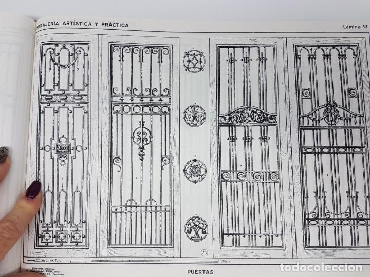 Libros de segunda mano: CERRAJERIA ARTÍSTICA Y PRÁCTICA 80 LÁMINAS ( J. ARTIGAS ) - Foto 7 - 162209350