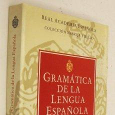 Libros de segunda mano: GRAMATICA DE LA LENGUA ESPAÑOLA - EMILIO ALARCOS. Lote 162295622